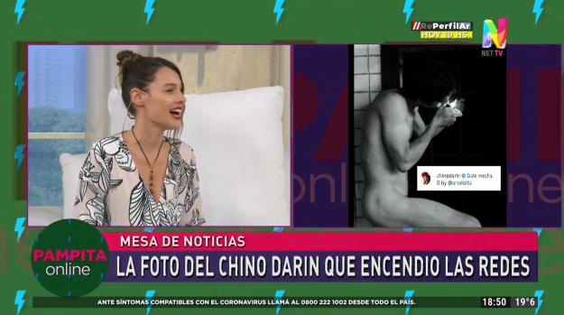 La reacción de Pampita al ver el desnudo del Chino Darín