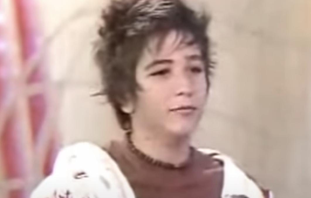 Camilo Echeverry cuando tenía 14 años