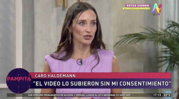 Carolina Haldemann contó que su video producto del hackeo está en páginas pornográficas