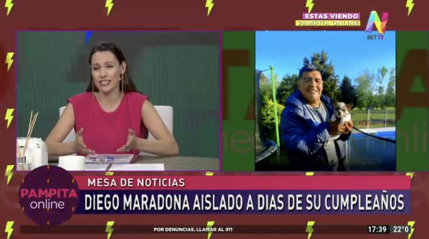 Pampita habla de Diego Maradona