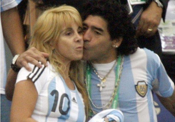 Diego Maradona y Claudi Villafañe