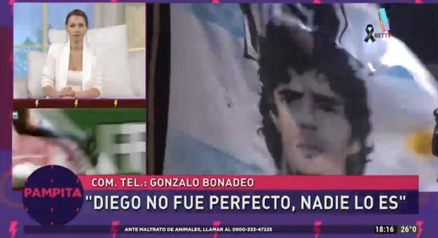 Despedida a Diego Maradona en Pampita Online