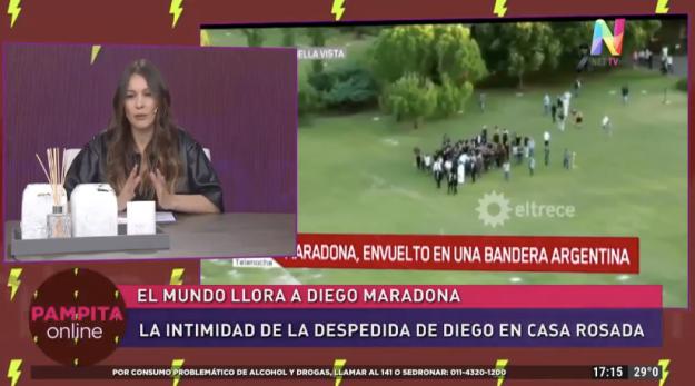 Pampita sobre el velorio de Maradona
