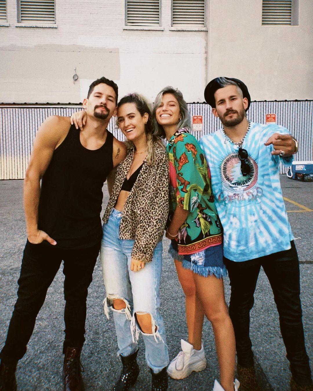 Mau y Ricky con sara Escobar y Stefi Roitman
