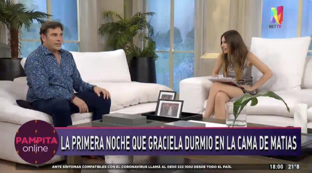 Matías Alé con Pampita