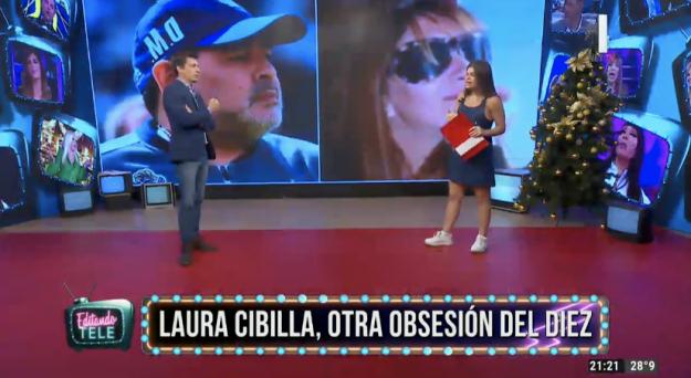 Diego Maradona y Laura Cibilla