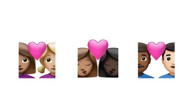 Emojis caras corazon