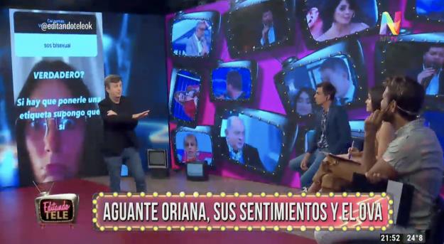 Oriana Sabatini en Editando Tele