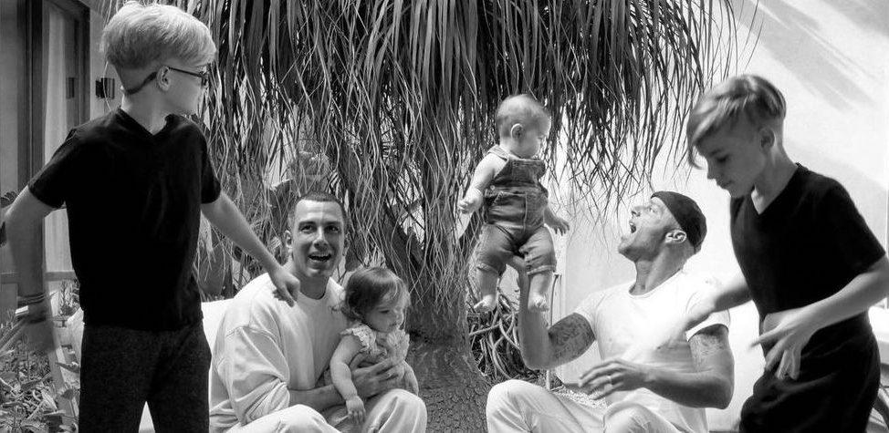 Ricky Marin con su familia