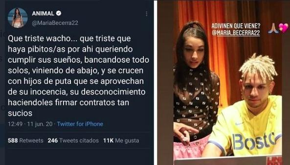 """Critican a María Becerra por """"traicionar"""" a Paulo Londra"""