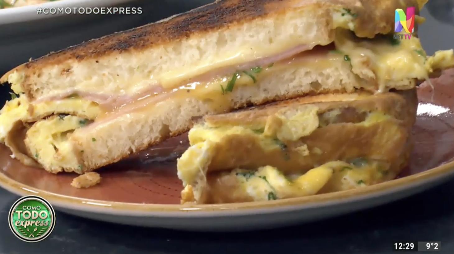 sándwich omelette