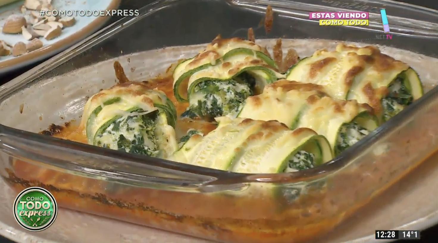 Canelones de zucchini